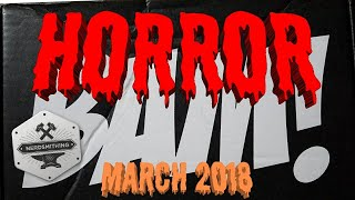 Unboxing The Bam Box Horror March 2018