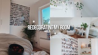 REDECORATING MY ROOM 2019! total room transformation ;)