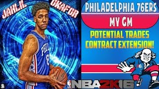Nba 2k16 philadelphia 76ers my gm ep. #23 - potential trades?!? large contract extension!