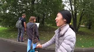 Собираем яблоки в Коломенском парке. Выходной день