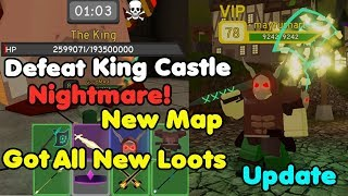 Defeat New Map King Castle Nightmare! Got All New Loots! OP Loots! - Dungeon Quest