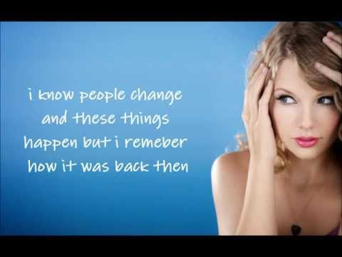 Taylor Swift-If This Was a Movie-Lyrics