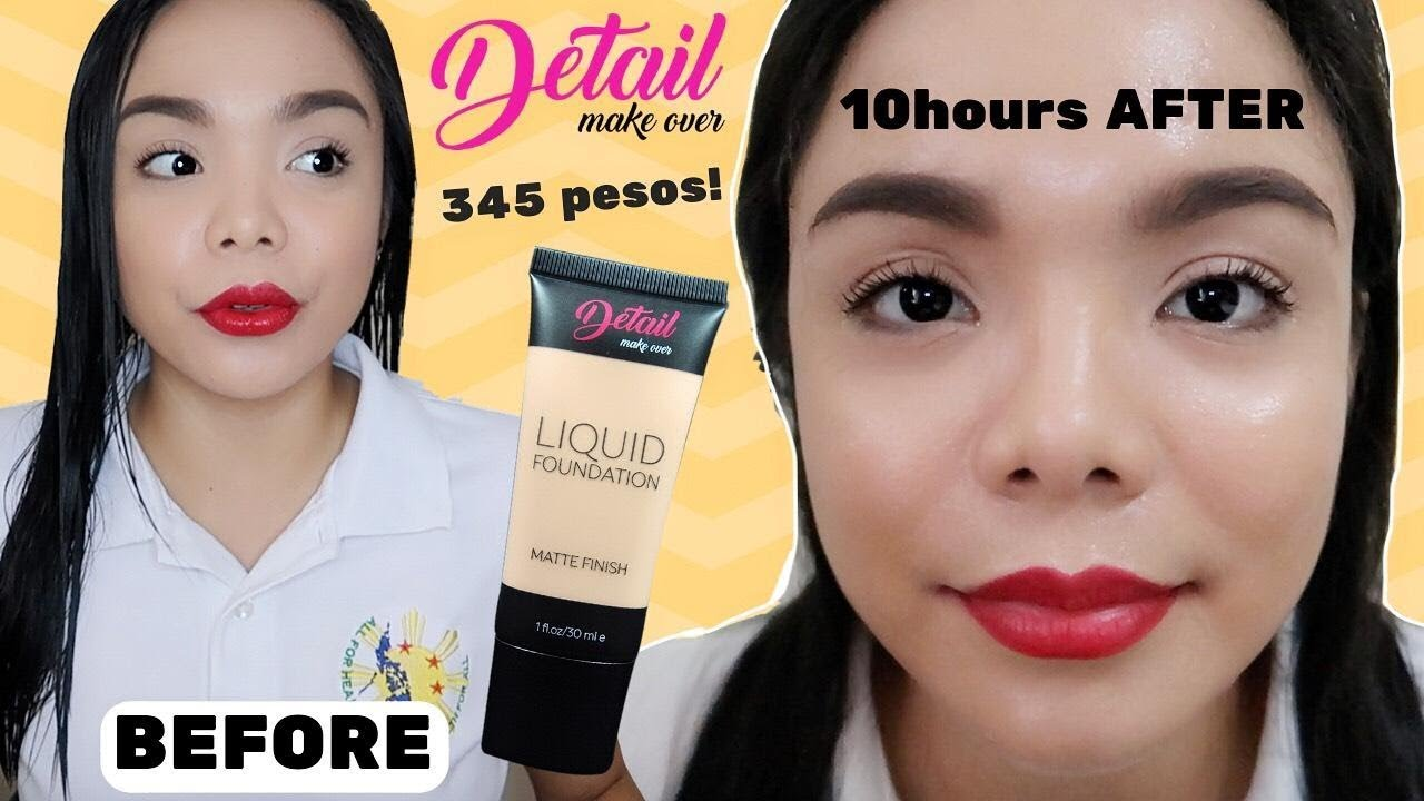 Flawless Face Even After 10hours Detail Makeover Liquid Make Over Foundation Detailmakeover Mattefinish