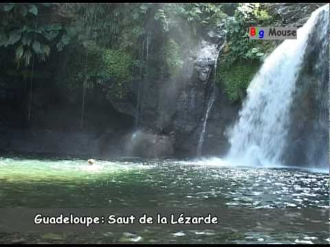 Guadeloupe: waterfalls (travel clip)