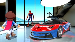 Stealing SPIDER MAN CARS In GTA 5!
