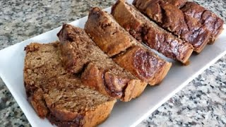 Whole Wheat Banana Bread Recipe, How To, Tutorial