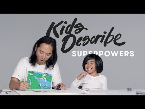 Kids Describe Superpowers to Koji the Illustrator | Kids Describe | Kids Describe | HiHo Kids
