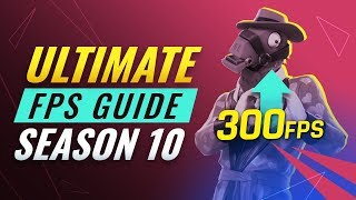 How to get *BETTER* FPS for PC & Console in Season X - Fortnite Tips and Tricks