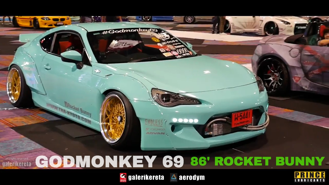 Toyota 86 Rocket Bunny GODMONKEY 69   Race Day Thailand 2017