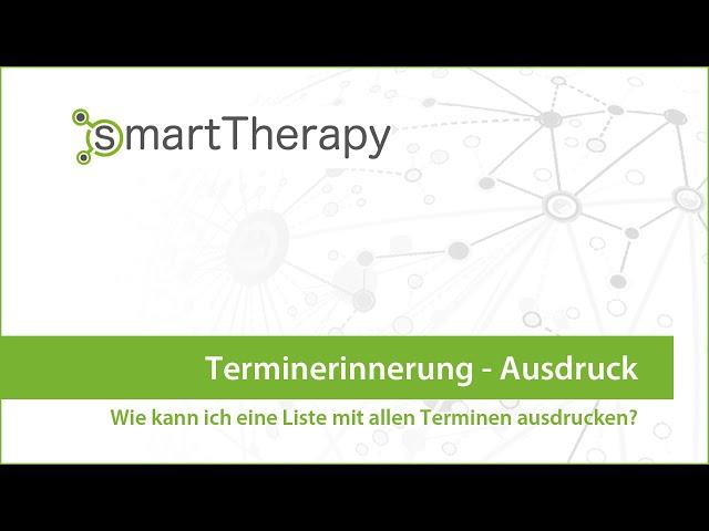 smartTherapy: Terminerinnerung Ausdruck