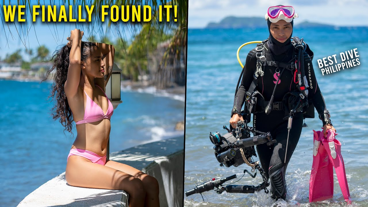 CHALLENGING GIRLFRIEND TO SCUBA DIVE & FILM - ⭐INSANE FINDINGS⭐ - (Beach Cafe Philippines)
