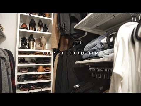CLOSET DECLUTTER | SMALL CLOSET ORGANIZATION