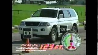 2000 Mitsubishi Montero Sport test drive