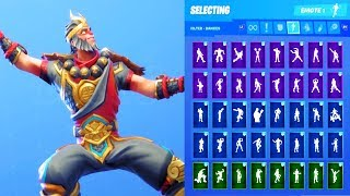 WUKONG SKIN SHOWCASE WITH ALL FORTNITE DANCES & EMOTES