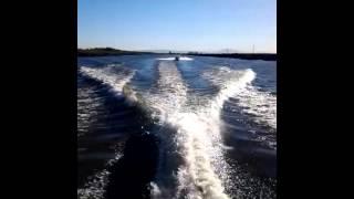 Wake jumping boat