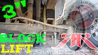 """3"""" BLOCK LIFT FOR LEAF SPRING REAR ENDS"""