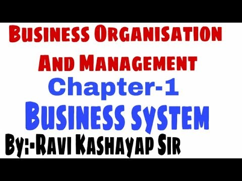 Business Organisation Management For B Com 1st Year Business System