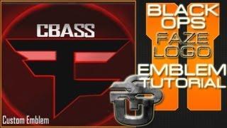 Custom Faze Clan Logo : Call Of Duty Black Ops 2 Emblem Tutorial