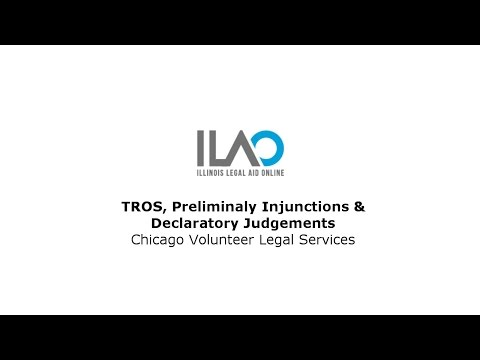 TROS, Preliminary Injunction And Declaratory Judgements