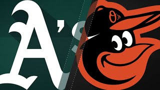 A's score 10 in the 3rd, hold O's to 1 hit: 9/12/18