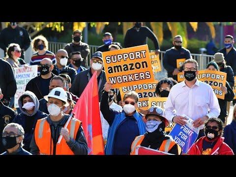 أمازون: تأسيس أول نقابة عمالية يزعج عملاق التجارة الإلكترونية  - 11:59-2021 / 3 / 30