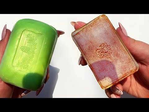 Dry Vintage Soap ASMR | 35 Years Old \ Satisfying Relaxing Video \ Сухое ретро мыло, Soap Carving