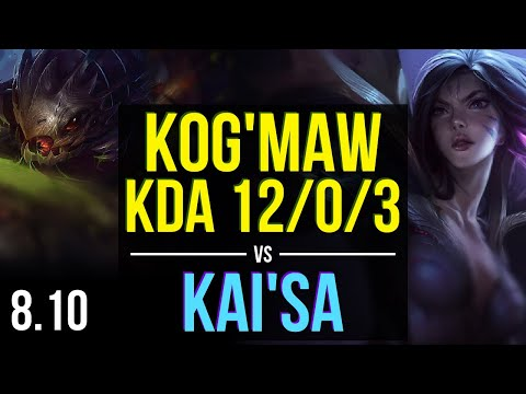 KOGMAW vs KAISA ADC ~ KDA 1203 Legendary ~ Korea Master ~ Patch 810