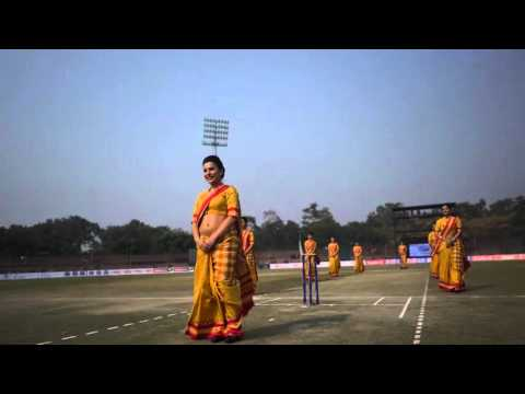 Air India Crew performing Safety Demo in a Cricket Stadium!!!