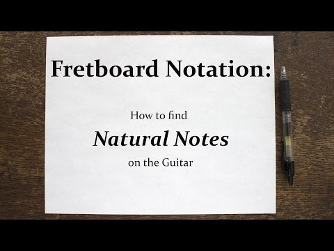 Notes on the Fretboard: How to find Natural Notes on your Guitar