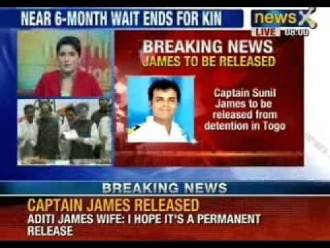 NewsX Impact: Captain Sunil James to be released from Togo Prison after 6 months of detention