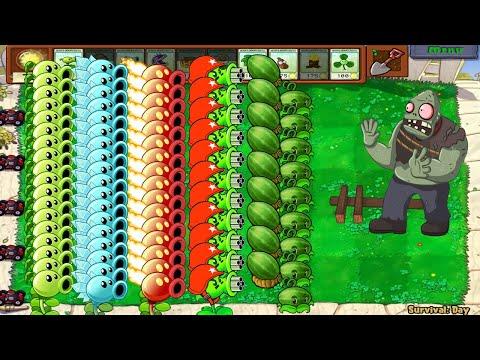 Plants Vs Zombies - All Pea PvZ Vs Gargantuar Vs Zombies