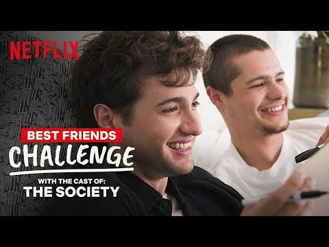 The Society Cast Toby Wallace & Alex Fitzalan Best Friends Challenge | Netflix