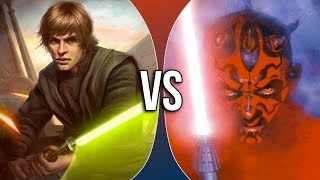 VS | Luke Skywalker vs Darth Maul