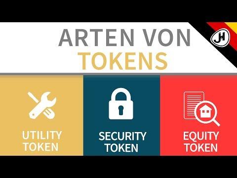 Was ist ein Utility Token, Security Token und Equity Token?