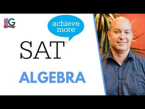 SAT Math Lesson: Basic Algebra