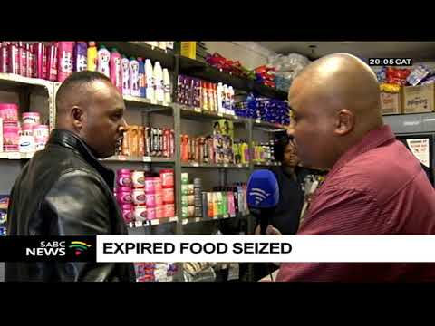 Expired food seized from foreign-owned shops in Ekurhuleni