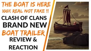 New Clash Of Clans Boat Trailer 100% Real Not A Leek New Massive Update May 2017