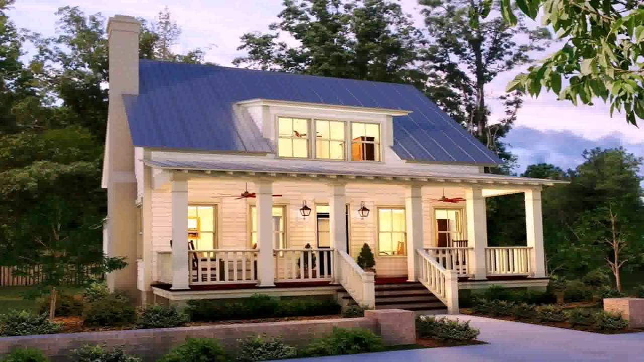 Country Farmhouse Plans One Story - YouTube
