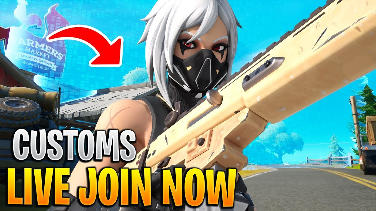 🔴NA EAST CUSTOMS LIVE WITH SYFY! -Fortnite