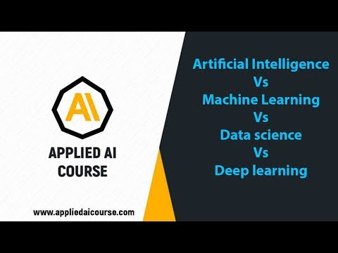 Artificial Intelligence Vs Machine Learning Vs Data science Vs Deep learning | Applied AI Course