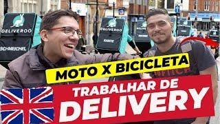 TRABALHAR ENTREGANDO COMIDA EM LONDRES DE MOTO OU BICICLETA? | MOTO filmadores UK