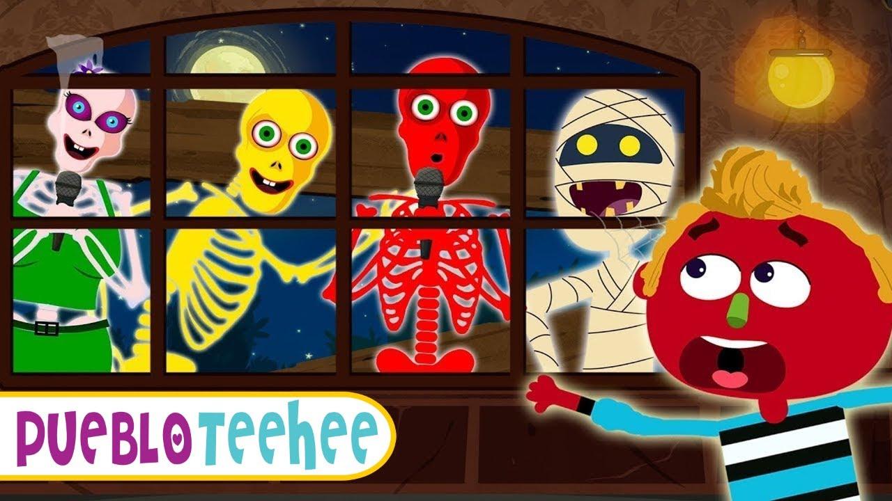 ¿Quién está en la ventana? - Canciones infantiles de miedo | Pueblo Teehee