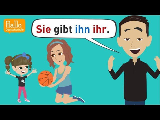 Deutsch lernen | 3 Regeln zur Satzstellung von Akkusativ-, Dativobjekten und  Personalpronomen |QUIZ