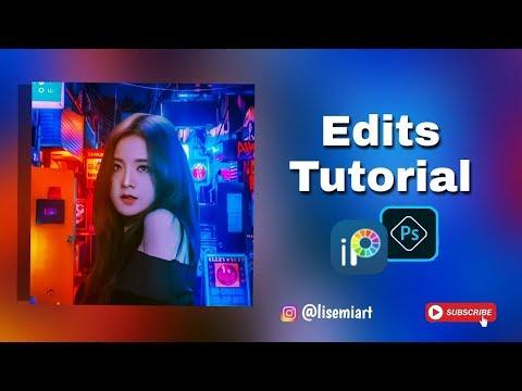 Wattpad Cover Neon Effect (Jisoo Blackpink)