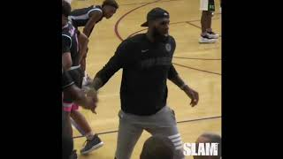 Lebron Has Trouble Picking Up 13 Year Old Kid!