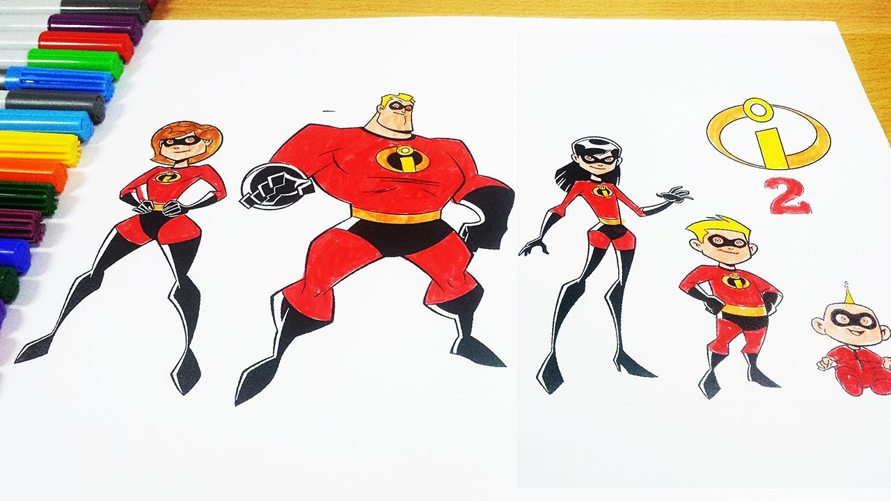 The Incredibles 2 Coloring Pages Incredibles 2018 ES for