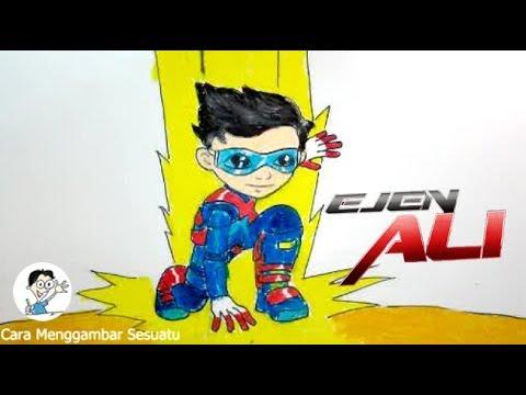 Cara Menggambar Ejen Ali 2 Youtube