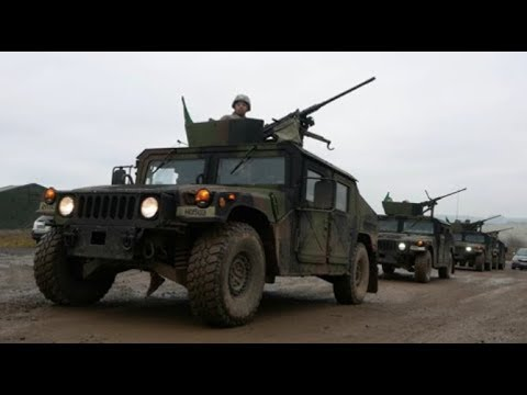 US ARMY EUROPE - HUMVEE CONVOY LIVE FIRE IN GERMANY