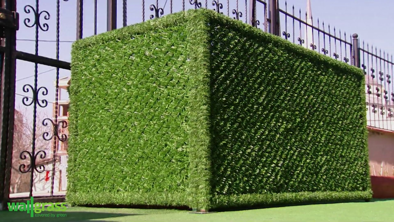 Artificial Grass Fence Hedge Panel Manufacturer Wallgrass Com Youtube