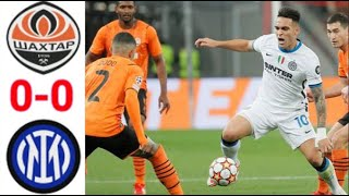 Shakhtar Donetsk vs Inter 0-0 Resumen y Goles